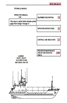 US Army, Technical Manual, TM 55-1905-223-10, LANDING CRAFT, UTILITY, (LCU 2000 CLASS), (NSN 1905-01-154-1191), 1989