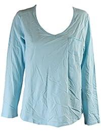 Long-Sleeve Pajama Top, Eternal Aqua, Large