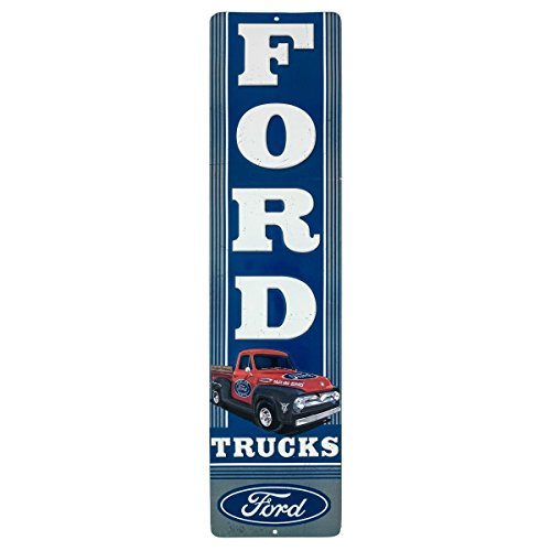 Open Road Brands Ford Truck Embossed Tin Vertical Sign