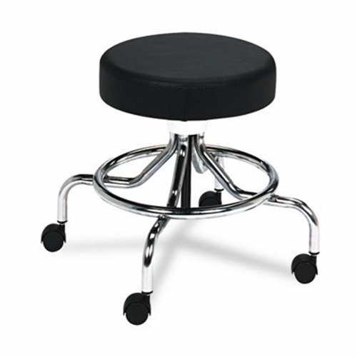 (Safco Office Industrial Classroom Adjustable Swivel Pneumatic Medical Lab Stool Manual Low Base)