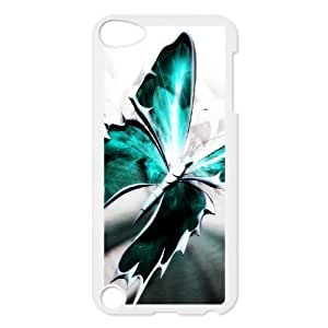 Diy Colorful Blue Butterfly Phone Case for ipod touch 5 White Shell Phone JFLIFE(TM) [Pattern-1] Kimberly Kurzendoerfer