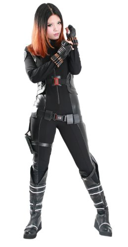 Women's New America Black Widow Cosplay Costume for Movie Size XL Black (Black Widow Cosplay Costume)