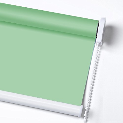ZY Blinds Light Filtering Shades Custom Made Any Size from 20-78inch Wide UV Protection Enery Saving Window Shades Blinds For Home, Hotel, Club, Restaurant 25'' W x 36'' L, Apple Green by ZY Blinds (Image #1)