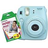 Fujifilm FU64-MINI8BLK20 INSTAX MINI 8 Camera and Film Kit with 20 Exposures (Blue)