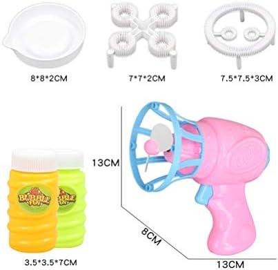 Toyvian Juguete de Burbujas, Pistola automática de Burbujas con Ventilador y Agua de Burbujas para niños (Rosa): Amazon.es: Juguetes y juegos