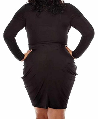 Bodycon Color Size Black Fashion Women Club Plus Dresses Sexy Coolred Pure w0qA4ZxT
