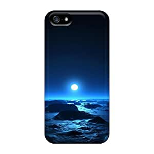 Awesome Design Sea & Moon At Mid Night Hard Cases Covers For Iphone 5/5s