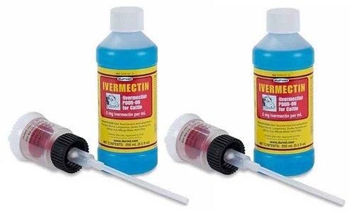 (2 Pack) Durvet Ivermectin Pour On 1 Liter