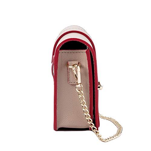 Cintura Pochette Marfil Ira Mano Cadena Clutch Del Elegante Italy Piel Modelo Made Y Roma Niña Auténtica Mujer Bandolera Pequeño Moda Valle Con De In Bolso SS0WqvOr