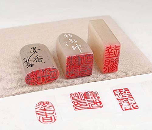 Colorful Manmade Jade Chinese Seal Handmade Stone Stamp Custom chisel carving Carve Name chop for calligraphy painting Yin kanji hanko E395