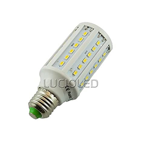 Bombilla LED de rosca E27 12 V 9 W (EQ. 80 W) maíz 60 LEDs luz del día: Amazon.es: Iluminación