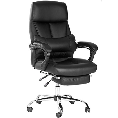 Merax High-back PU Leather Executive Chair Modern Style Office chair Ergonomic Computer Chair with Footrest