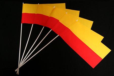 Menge-4  1000er Packung Papierfähnchen  gelb-rot 1000er Packung