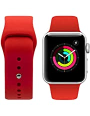 Porodo Silicone Watch Band for Apple Watch 44mm / 42mm compatible with Series 4, Series 5 - Red