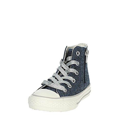 661007c Sneakers Celeste Hi Zip Side Converse Scarpe Bambina Ctas Alte nfIP4qF