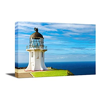Canvas Wall Art - Beautiful Landscape Cape Reinga Lighthouse | Modern Home Art Canvas Prints Giclee Printing Wrapped & Ready to Hang - 24