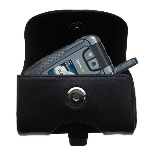- Gomadic Brand Horizontal Black Leather Carrying Case for the Motorola ic902 with Integrated Belt Loop and Optional Belt Clip