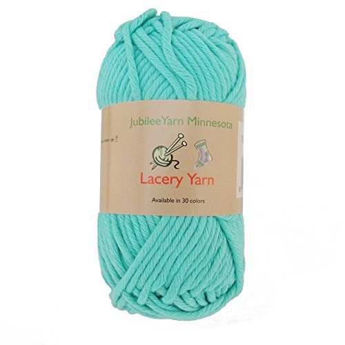 Bulky Sweater Patterns - Bulky Weight Lacery Yarn 100g - 2 Skeins - 100% Cotton - Marina Green - Color 108