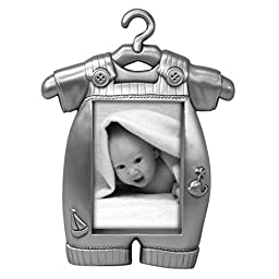Malden International Designs Boy\'s Outfit Pewter Juvenile Picture Frame, 2x3, Silver