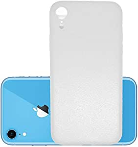 Slim flexible plastic protection case similar to the texture of the natural leather for Apple iPhone XR