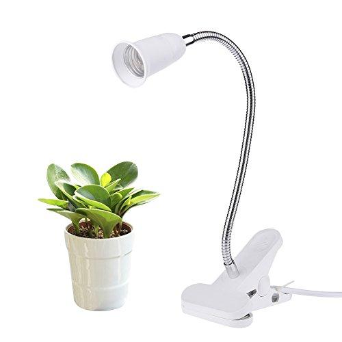 Gooseneck White (Plant Grow Light,SHZONS LED Clip Desk Lamp with 360 Degree Flexible Gooseneck Light for Office, Home, Indoor Garden Greenhouse)