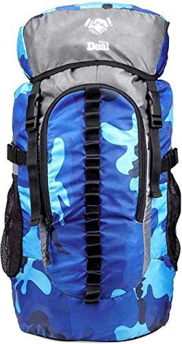 Singh Traders Store 45 L Waterproof Rucksack Backpack Bag for Travelling Hiking Camping Trekking (Blue)