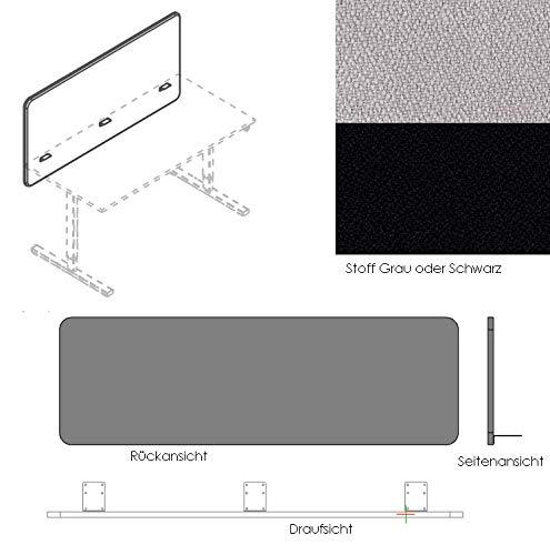 Schreibtischaufsatz Trennwand Fur Den Schreibtisch Grau Amazon