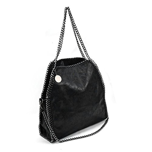SALLY YOUNG Fashion Women Hobo Handbag Large Casual Totes PU Leather bags Shopping Travel Daily Use Black