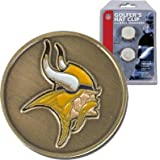 NFL McArthur Minnesota Vikings Ball Markers & Hat Clip Set