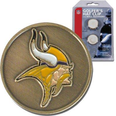 NFL McArthur Minnesota Vikings Ball Markers & Hat Clip Set by McArthur Sports