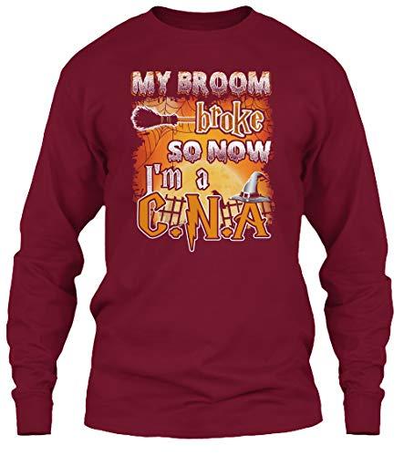 My Broom. M - Cardinal red Long Sleeve Tshirt - Gildan 6.1oz Long Sleeve Tee for $<!--$19.99-->
