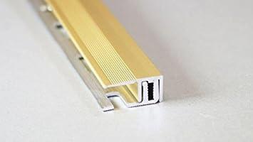 Fussboden Abschlussprofil 100cm edelstahloptik eloxiert, Fü r Bö den 7 - 15 mm Kügele