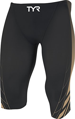 TYR AP12 Competitor Speed Shorts, Black/Gold, 24 by TYR