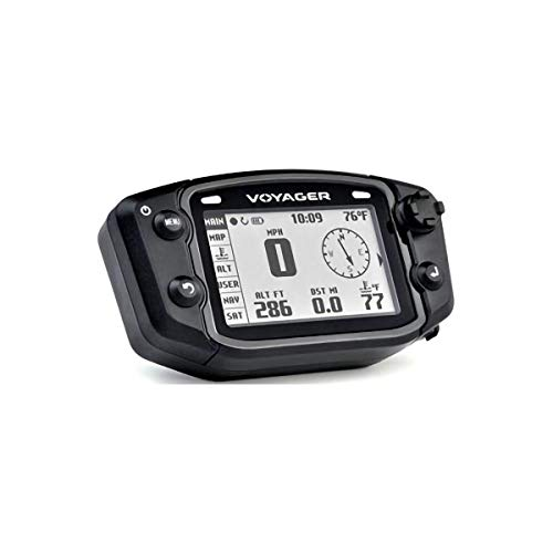Trail Tech 912-117 Black Voyager GPS Digital Gauge Kit, 2002-2019 Honda Kawasaki XR CRF KLX