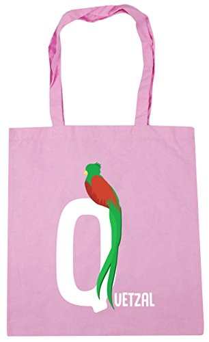 quetzal is Classic alphabet for litres Gym 42cm Pink Bag Shopping HippoWarehouse animal Beach 10 x38cm Q Tote q1xt5ZwT