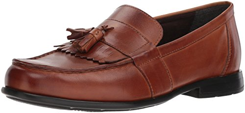 Nunn Bush Men Denzel Moc Toe Kiltie Tassel Slip-On Loafer with KORE Comfort Walking Technology, Cognac, - Mens Tassel