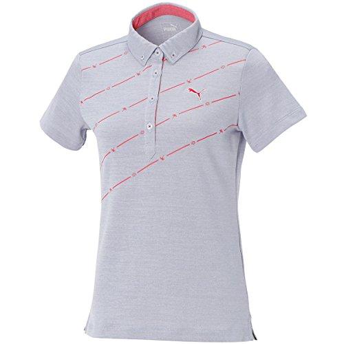プーマ PUMA 半袖シャツ?ポロシャツ 半袖ボタンダウン ポロシャツ 923555 レディス ハロゲンブルー 02 L