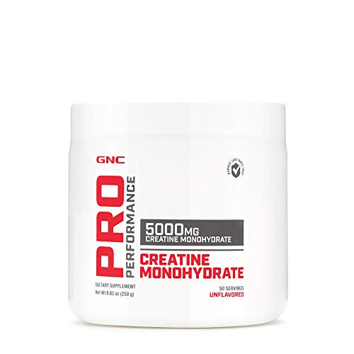 GNC Pro Performance Monohydrate, Unflavored, 50 Servings