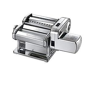 Marcato Atlasmotor - Macchina per Pasta con Motore, Acciaio Inossidabile, Cromato, 32 x 20 x 25,4 cm