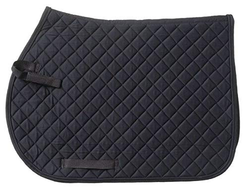 - JT International Quilted Square English Saddle Pad Black