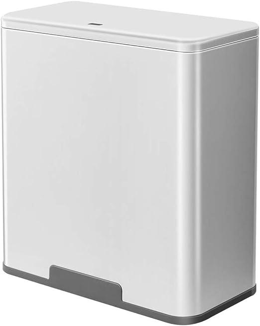 WDDLD Contenedor De Basura Clasificado, Seco Y Húmedo Separación Caja De Almacenamiento Diseño Estrecho Baño De Cocina Papelera De Reciclaje white- 10L: Amazon.es: Hogar