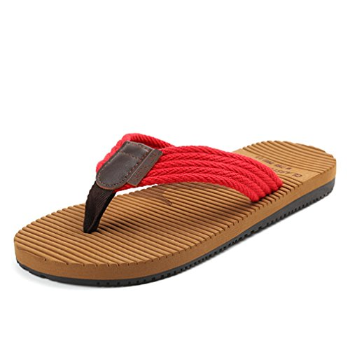 Lightweight Red Flip Slip Men's Flops Sole EVA Thongs Non Comfort Beach Sandals wYdwFqRP