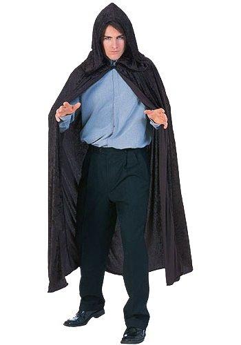 Rubie's Costume Full Length Crushed Velvet Hooded Cape, Black, One (Mother Gothel Costume)