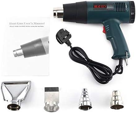 Surobayuusaku 1800W Electric Air Heater Gun Temperature-controlled Heat Gun Soldering Digital Industrial Heat Guns with LCD Display