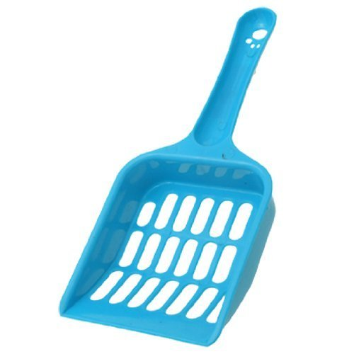 1X Plastic Pet Kitten Cat Litter Tray Scoop, Random Color Blue Water & Wood As per product description