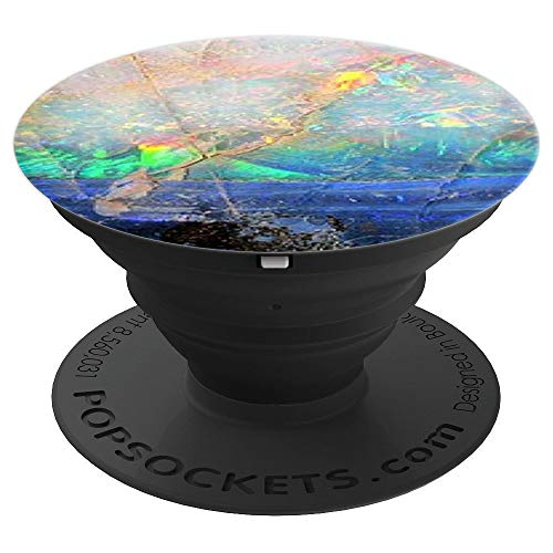 PopSockets Fluorescence Color Opal Agate for Girls - PopSockets Grip and Stand for Phones and Tablets