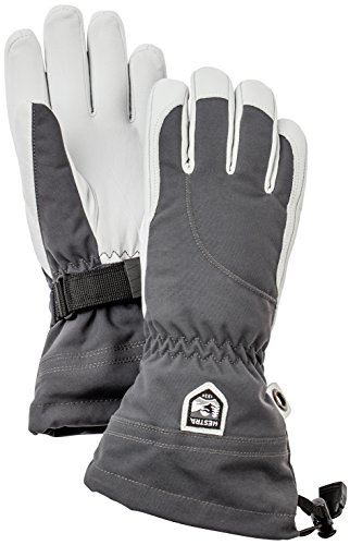 Hestra Women's Heli Gloves, Grey, Size 7 by Hestra
