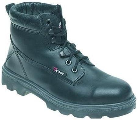 TALLA 5 UK. Toesavers Negro Funda de Piel Botas de Seguridad S3–1100