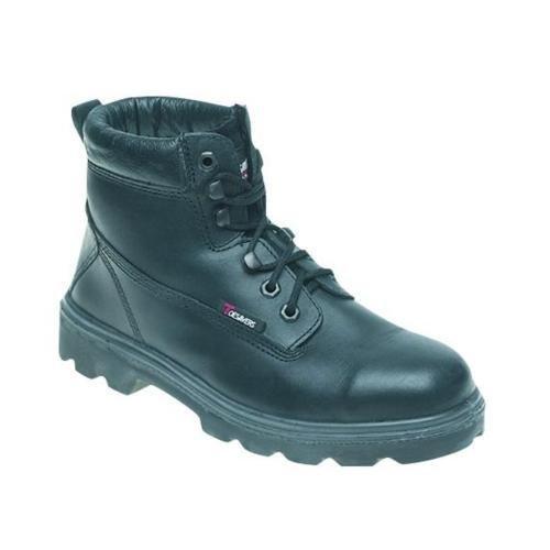 Toesavers negro funda de piel botas de seguridad S3–1100