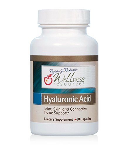 Hyaluronic Acid - 100% Natural Hyaluronic Acid from Rooster Comb, Low Molecular Weight (60 Capsules) by Wellness Resources